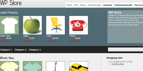 wpstore 110 Free WordPress Themes For 2011