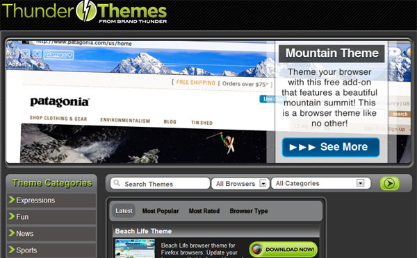 browser themes