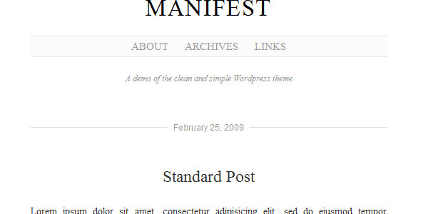 manifest 110 Free WordPress Themes For 2011