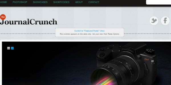 JournalCrunch WordPress 3.0+ theme
