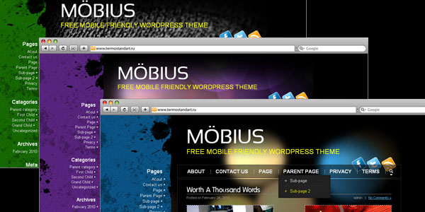 mobius 10 Free Wordpress Mobile Themes