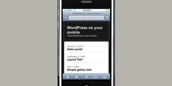 smooci 210 10 Free Wordpress Mobile Themes