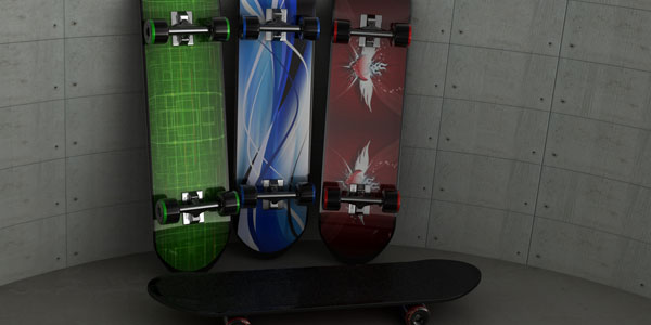 Modeling & Texturing a skateboard
