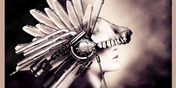 How to Create a Conceptual Headdress in Photoshop