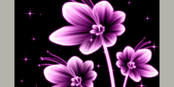 Create beautiful glowing flowers