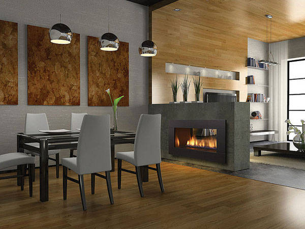 dinigtable fire place 25 Tempting Fireplace Designs