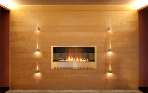 fireline casing 25 Tempting Fireplace Designs