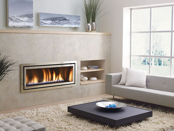 fireplacedesign modern 25 Tempting Fireplace Designs