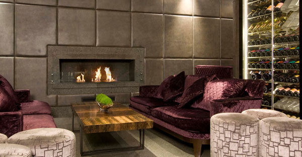 mayfair bar 25 Tempting Fireplace Designs