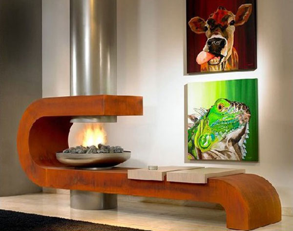 rusty fireplace modus 25 Tempting Fireplace Designs