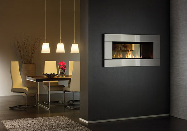 see through modern gas fireplace 25 Tempting Fireplace Designs