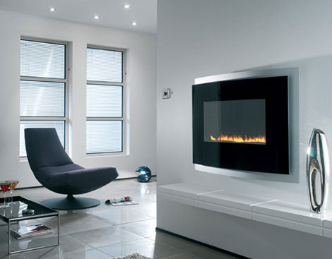whote and black fireplace 25 Tempting Fireplace Designs