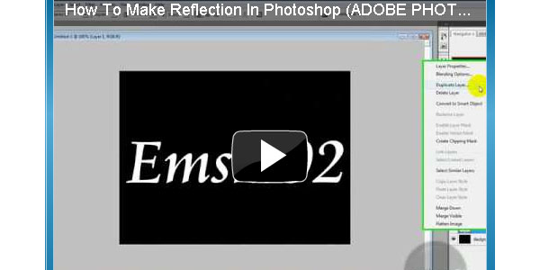 How to Make a Reflection in CS5