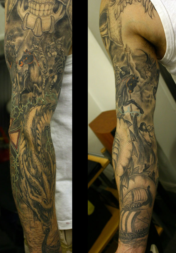 god tattoo 25 Full Sleeve Tattoo Designs