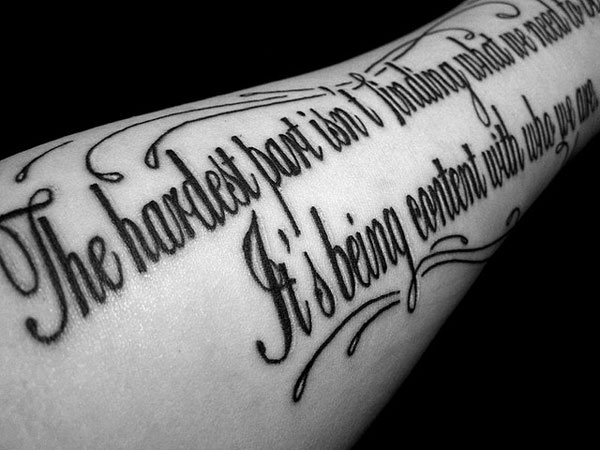 quote sleeve tattoos