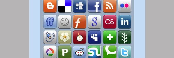 aquaticus social 50 Awesome Social Media Icons & Web 2.0 Icons