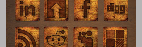 Burnt Wood: A Social Media Icon Set