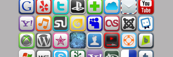 colorful icons 50 Awesome Social Media Icons & Web 2.0 Icons