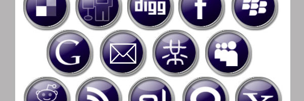 Dark Purple Social Media Icons