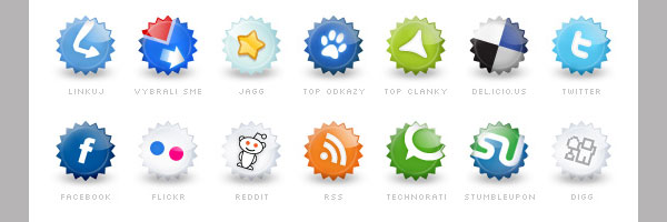 Extended set of social icons