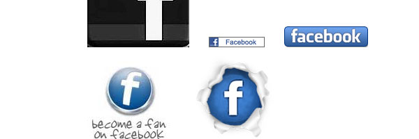 facebook buttons 50 Awesome Social Media Icons & Web 2.0 Icons