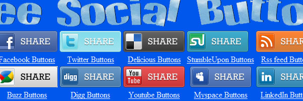 Free Social Buttons