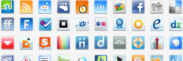 massive social media icons 50 Awesome Social Media Icons & Web 2.0 Icons