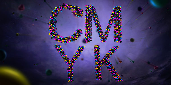 Create a CMYK 3D Text Effect in Photoshop and 3D Studio Max