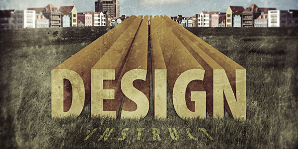 Create Stunning 3D Text in a Grungy Landscape