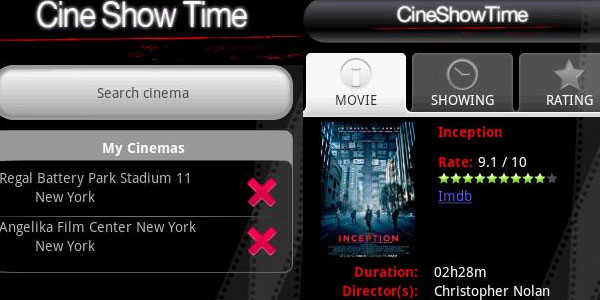 CineShowTime movie