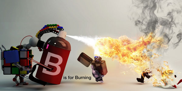 b is for burining 25 Animation Wallpapers