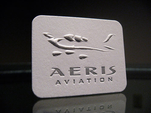 40 embossed business cards with classy look and feel aeris aviation embossed colourmoves