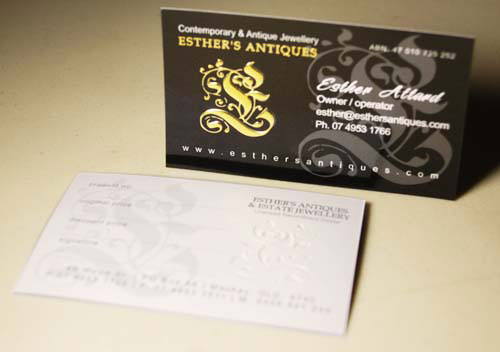 40 embossed business cards with classy look and feel business card reheart Gallery