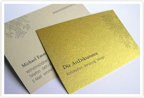 Gold Embossed Business Card