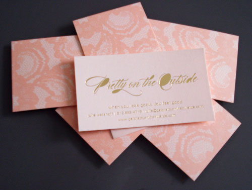 40 embossed business cards with classy look and feel pretty on the outside business cards reheart Image collections