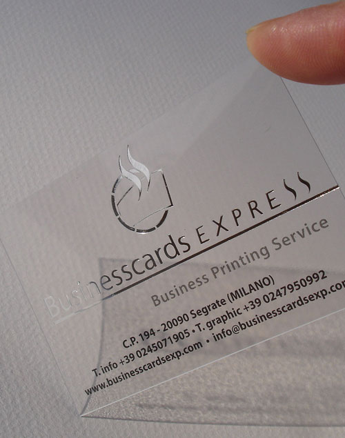 Transparent Business Card w/ Hot Foil Stamping