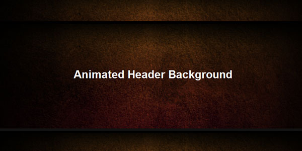 How To Build an Animated Header in jQuery