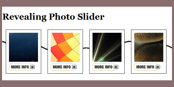 revealing photo slider 55 jQuery Animate Resources