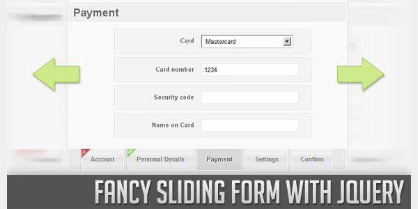 Fancy Sliding Form with jQuery