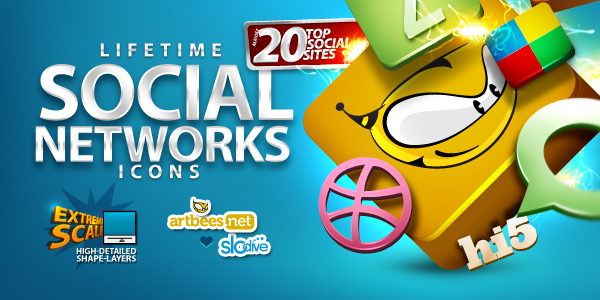 50 awesome social media icons web 20 icons lifetime social network icons sciox Choice Image
