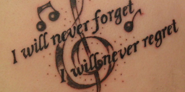 I will never forget, I will never regret
