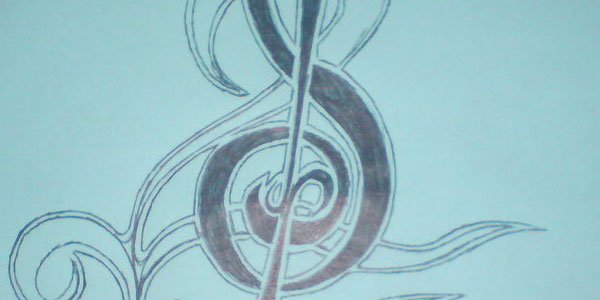 tribal music note