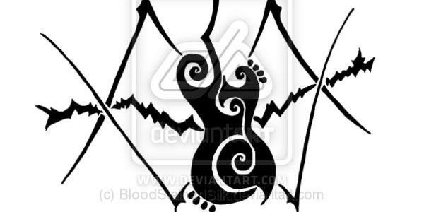 Tribal guitar tattoo 2