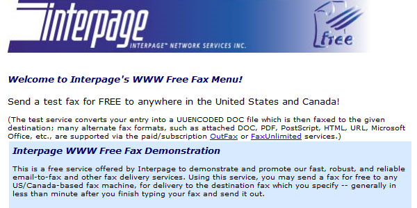 interpage 25 Best Free Online Fax Services