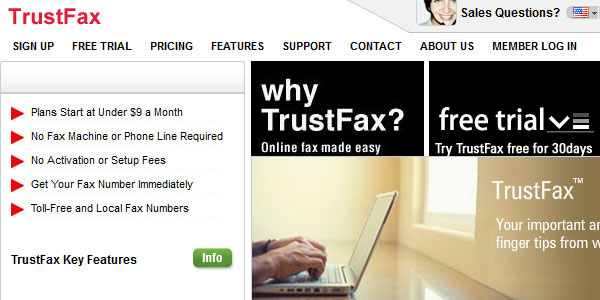 trustfax 25 Best Free Online Fax Services