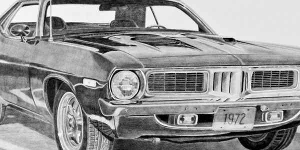 1972 car 50 Splendid Pencil Drawings