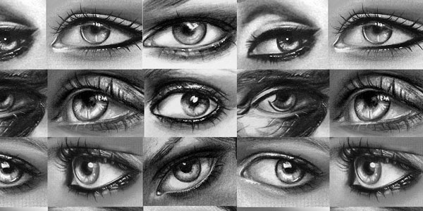 bunch of eyes 50 Splendid Pencil Drawings