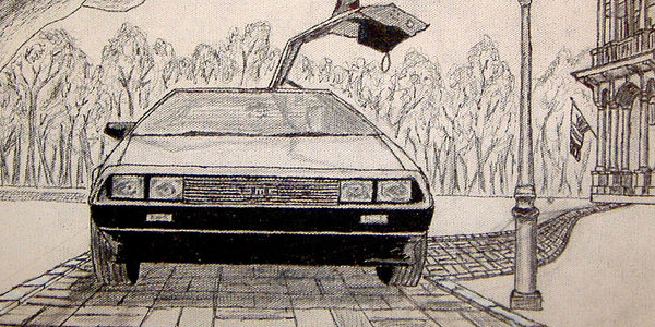 Sketch for DeLorean Painting 2