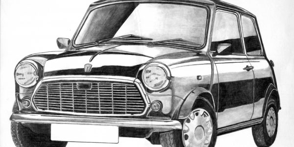 car 50 Splendid Pencil Drawings