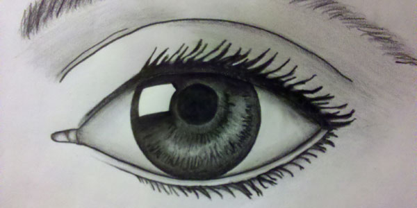 Eye with Pencil